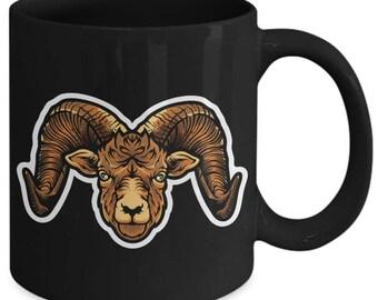 Ram Ewe Bighorn Sheep Coffee Mug
