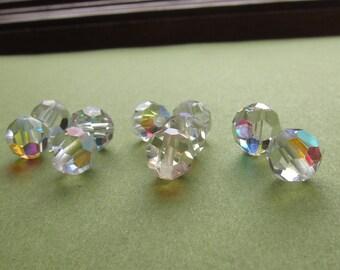 6mm Crystal AB Swarovski Round Beads - (54)