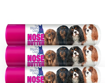 Cavalier King Charles Spaniel NOSE BUTTER® All Natural,Handcrafted Moisturizing Balm Choice: One .15 oz Tube or 3-Pack of .15 oz Tubes