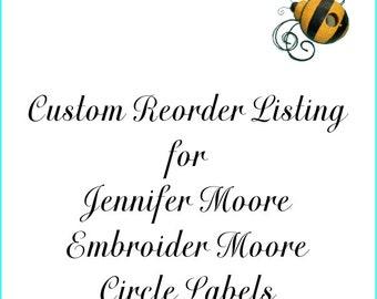 Custom Reorder Listing for Jennifer Moore