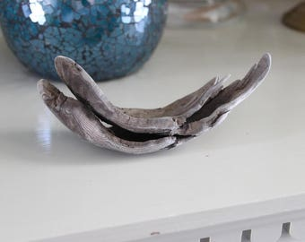 Curved Driftwood , Natural Drift Wood Piece , Craft Supply , Beach Art