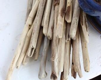 Straight Driftwood Sticks , Bulk Drift wood for Coastal decor & Beach Wedding Favors  ST35