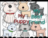 Little Pup Clipart Collection - Immediate Download