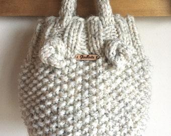Chunky Knit Bucket Bag Purse