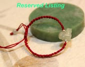 Reserved Listing for Tracy Gin - 2017 Year of Rooster, Baby Jade rooster bracelet