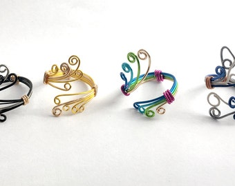 Rise of The Guardians Inspired Adjustable Wire Rings