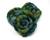 Oatmeal BFL Wool/ Silk (70/30) Roving (Combed Top) - Blue Face Leicester/ Silk - Handpainted Felting or Spinning Fiber
