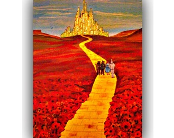 Wizard of oz art \ Wizard of oz decor \ Wizard of oz wall art \ Wizard of oz home decor \ yellow brick road art \ Wizard of oz gifts \ oz