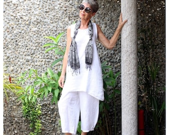 LINEN, Wayan Swing Tunic, My Bali Closet, Made to Order, Follow me on Instagram: @mybalicloset