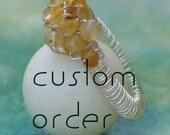Custom listing for Erica / Friendship Bracelet  handwoven black / copper  heart  charm with gemstones