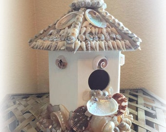 Sweet Singing Seashell Bird House
