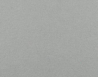 "Light Gray Solid Tone Designer Wool Felt by the Foot - 100% Wool, 70.9"" Wide, 3mm and 5mm Thicknesses Available, Buy More Save More"