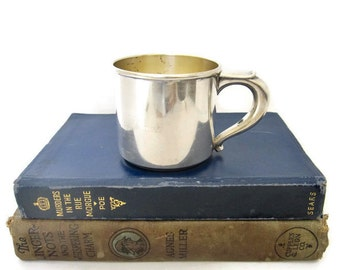 """Linda's Vintage Sterling Silver Baby Cup by Wallace Sterling, Engraved """"Linda"""""""