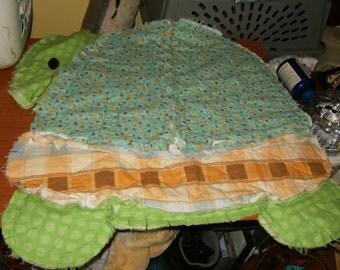 Turtle rag quilt | Etsy : turtle rag quilt - Adamdwight.com