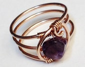 Amethyst Ring  Amethyst Jewelry  February Birthstone  Rose Gold Amethyst Ring  Gold Ring  Rings  14K Rose Gold Filled