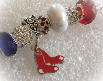 Boston Red Sox  jewelry bracelets, Baseball handmade jewelry bracelets