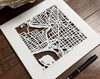 custom hand cut map, 10x10. SEPTEMBER completion