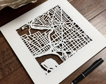 custom hand cut map ORIGINAL, 10x10 for MARCH Completion