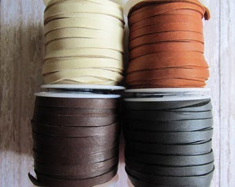 CHOICE of 5mm Deerskin Lace, Deerskin, Deer Skin, Lace, Leather Lace, Lace, Leather, 5mm lace, 5mm leather