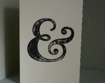 Ampersand Handprinted Card