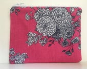 Reusable Sandwich Bag,  Essential Oul Bag, Zipper Bag  - Pink Floral