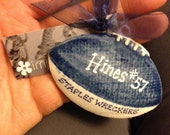 Customized Football Ornament in  Team Colors