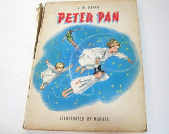 Peter Pan by J. M. Barrie, illustrated by Maraja, Grosset & Dunlap