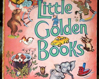 A Treasury of Little Golden Books, Vintage Childrens Book 1976, Richard Scarry, Eloise Wilkin, Adorable Vintage Illustrations, Picture Book