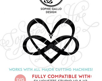 Love Forever Infinity SVG DXF PNG digital download files Silhouette Cricut vector clip art graphics Vinyl Cutting Machine, Screen Printing