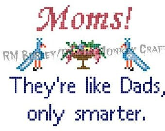 Mother's Day CROSS STITCH PATTERN with Vintage Motifs