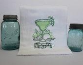 Margarita Embroidered Flour Sack Kitchen Towel