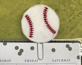 Baseball Felt Planner Clip