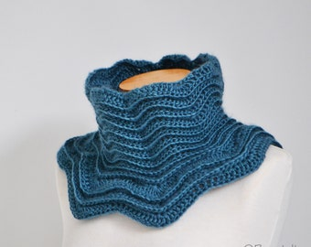 STAR, Crochet cowl pattern, pdf