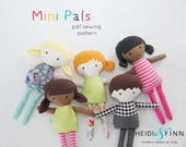 Mini Pals  soft rag doll sewing pattern toy softie stuffed doll
