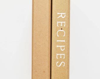 Recipe Binder -- Hand-Stenciled Cover with 24 Letter Size Recipe Cards and 8 Tabs in Ombre Dots Design