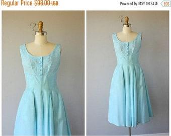 25% OFF FLASH SALE.. 50s dress | 1950s party dress | cocktail dress  | 1950s dress | 60s party dress | sky blue 1960s dress (small)