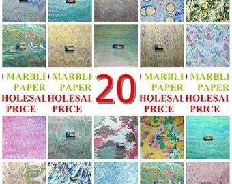 20 marbled  paper, carta marmorizzata, marmorpapier -  2770