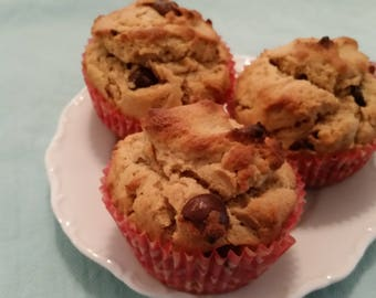 Irresistible Peanut Butter Chocolate Chip Muffins