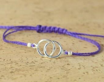 Double Good Karma  bracelet-sterling silver