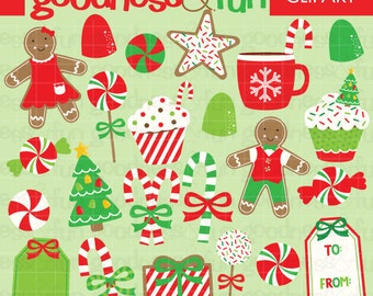 Buy 2, Get 1 FREE - Christmas Treats Christmas Clipart - Digital Christmas Clipart - Instant Download