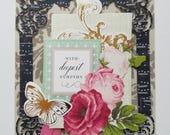 """Handmade Sympathy Card - 5"""" x 6.5"""" -Anna Griffin greeting card"""