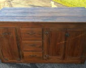 Yes**FREE SHIPPING 500 dollar max credit Country Store Counter Kitchen Island in pine and poplar 27.5d62L33h beadboard squre nails Shipping