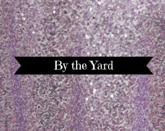 Sequin Lavender Pastel Purple Bolt Fabric By the Yard Sewing Material