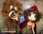Rosie and Hunter Urchin Pantomime art dolls