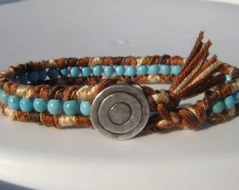 Turquoise Magnesite Friendship Bracelet