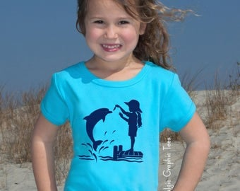 WAREHOUSE SALE Dolphin Dock Nostalgic Graphic Tee Graphic Tee Free Shipping
