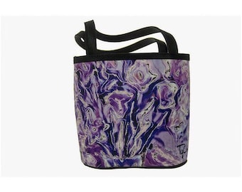 BUCKET BAG - Small FLORAL Tote - Women's Evening Purse, Abstract Photography, Small Handbag.  Lavender Bouquet Image.