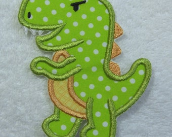 T-Rex Dinosaur Fabric Embroidered Iron On Applique Patch Ready to Ship