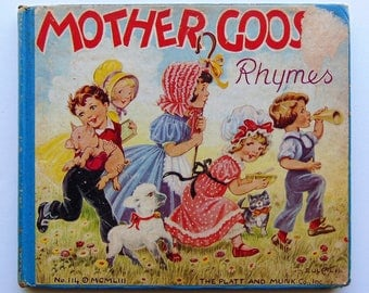 Worn Book - Mother Goose Rhymes 1953