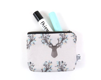 Ity-Bity Zipper Pouch -Little Stag - mini change pouch essential oil bag coin purse Zip Wallet Money Wallet Change Purse Gift Card Holder